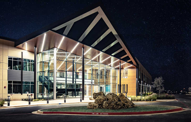 Round Rock Building at night